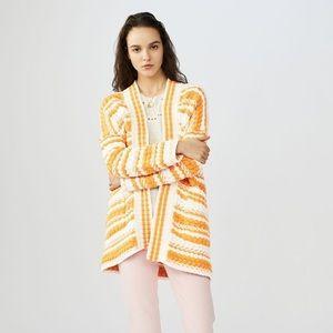 Maje Milio Chunky Striped Cardigan Oversized SZ L / XL